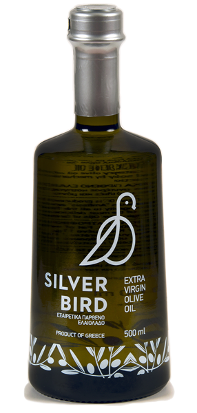 SilverBird's bottle of olive oil